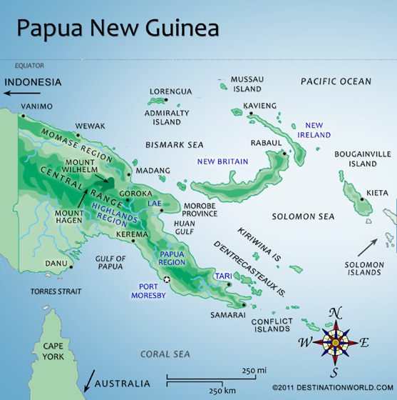 Download this Map Papua New Guinea... picture